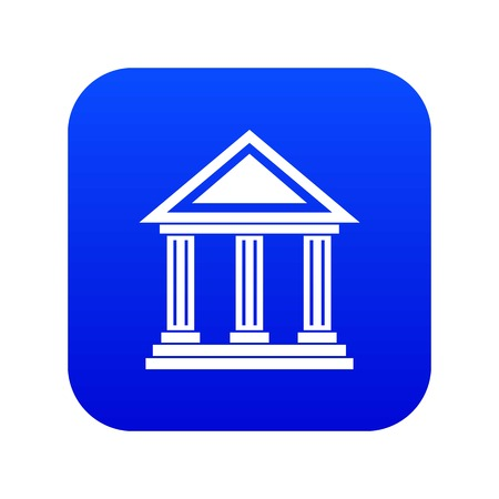 Colonnade icon digital blue Illustration