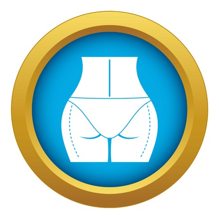 Woman prepared to plastic surgery icon blue vector isolated