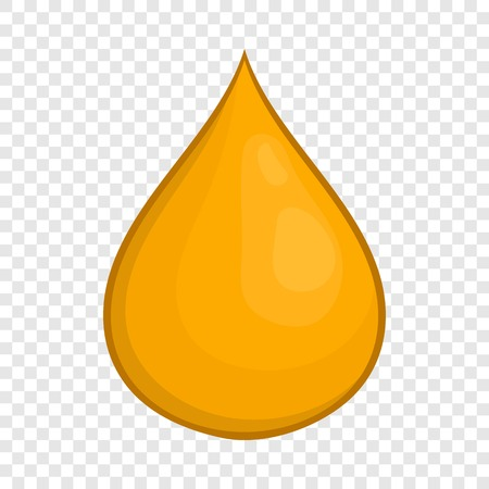 Drop of honey icon in cartoon style isolated on background for any web design