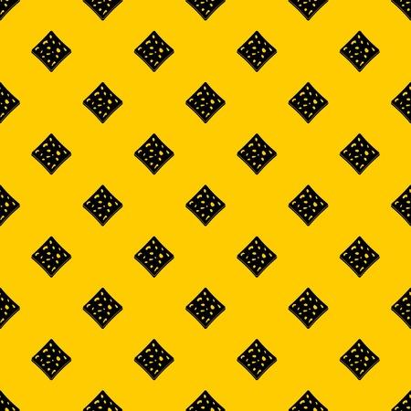 Tofu fresh block pattern seamless vector repeat geometric yellow for any design Çizim