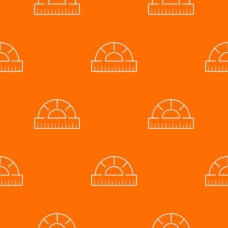 Ruler pattern vector orange for any web design best