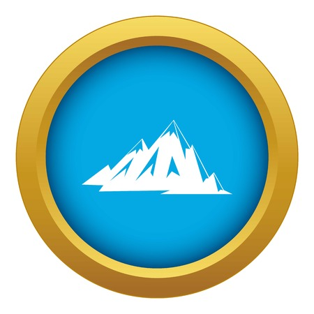 Canadian mountains icon blue vector isolated