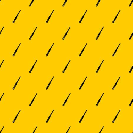 Ink pen pattern seamless vector repeat geometric yellow for any design Vettoriali