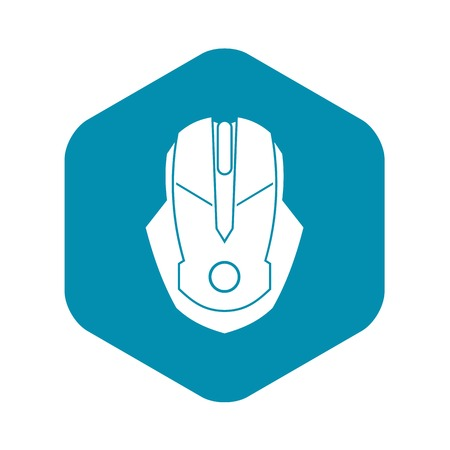 Computer mouse icon in simple style on a white background