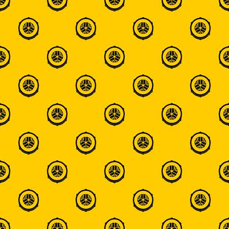 Slice of fresh cucumber pattern seamless vector repeat geometric yellow for any design
