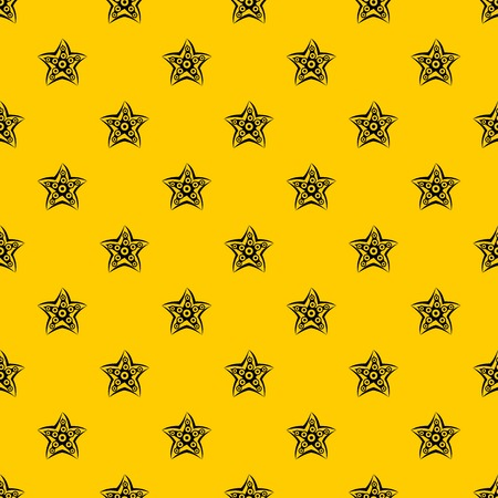Starfish pattern seamless vector repeat geometric yellow for any design
