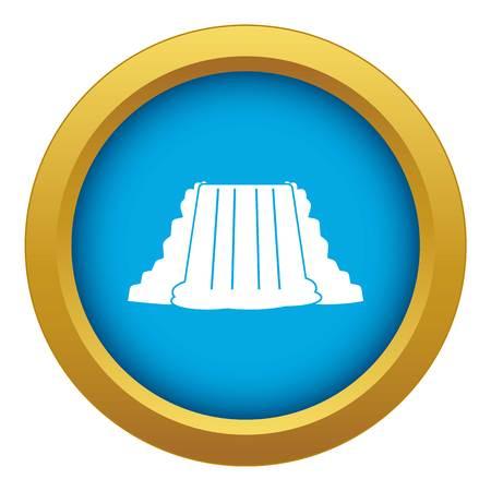 Niagara Falls icon blue vector isolated Ilustração