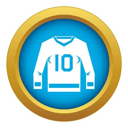 Hockey jersey icon blue vector isolated on white background for any design