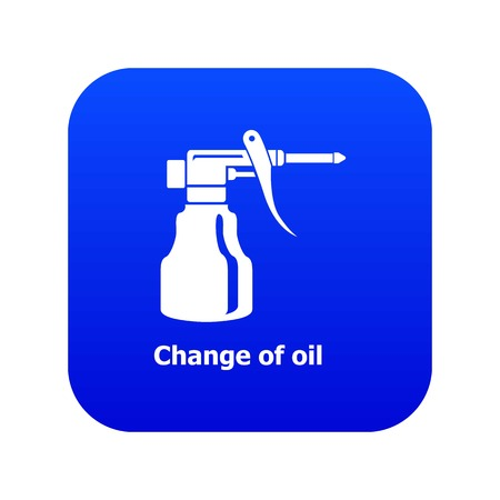 Change oil icon blue vector
