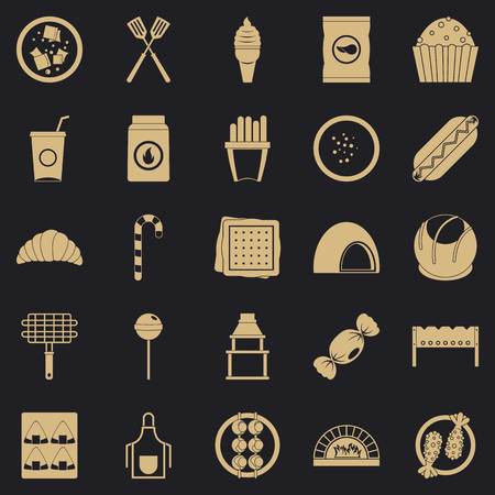 Overeating icons set. Simple set of 25 overeating vector icons for web for any design