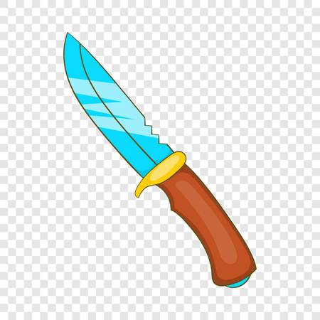 Hunting knife icon in cartoon style on a background for any web design