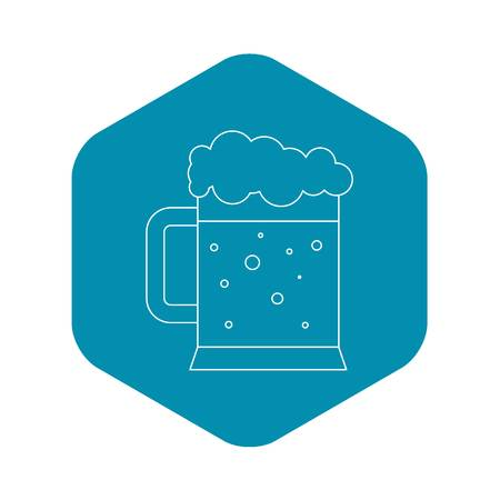 Beer icon , outline style