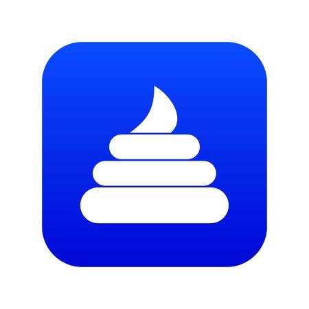 Turd icon digital blue