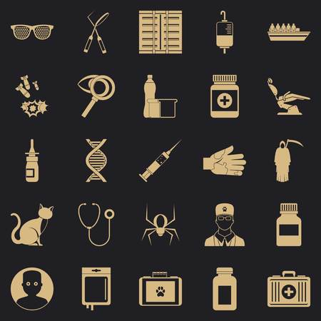 Physician icons set. Simple set of 25 physician vector icons for web for any design Illustration