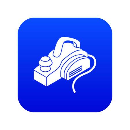 Hand power tool icon blue vector isolated on white background Stock Illustratie
