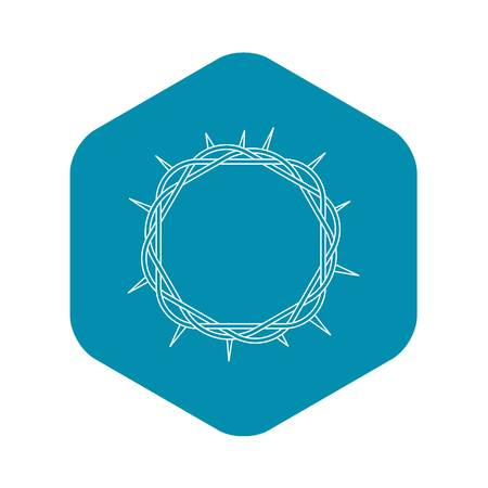 Crown of thorns icon , outline style Standard-Bild - 120361252