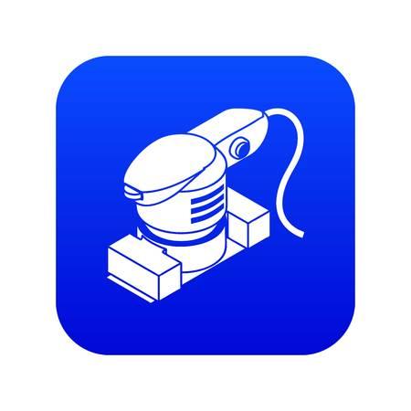 Bladschuurmachine pictogram blauwe vector geïsoleerd op een witte achtergrond Vector Illustratie
