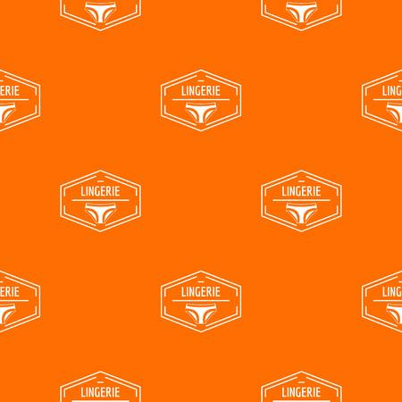 Lingerie body pattern vector orange