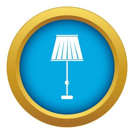Floor lamp icon blue vector isolated