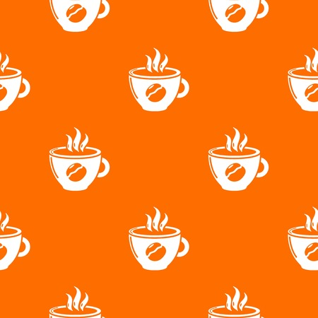 Cup coffee pattern vector orange for any web design best