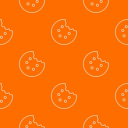 Bite biscuits pattern vector orange for any web design best