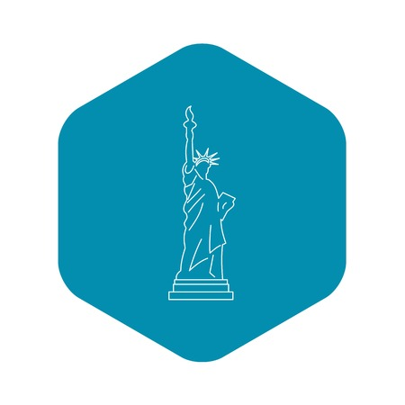 Statue of liberty icon , outline style