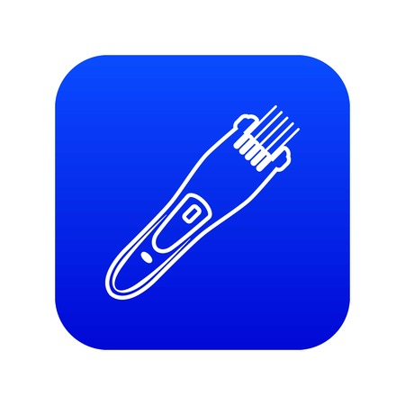 Electric hair clipper icon blue vector