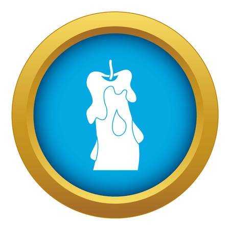 Candle icon blue vector isolated Vector Illustration