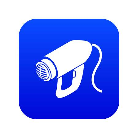 Heat power tool icon blue vector