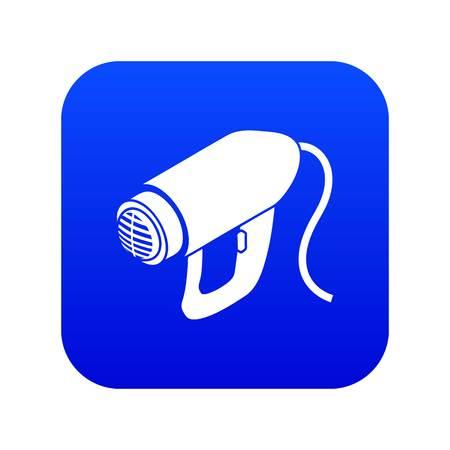Heat power tool icon blue vector Reklamní fotografie - 120208689