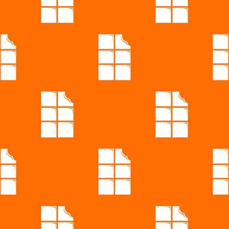 Bite chocolate pattern vector orange for any web design best Vettoriali
