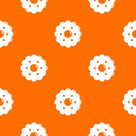 Biscuits pattern vector orange for any web design best
