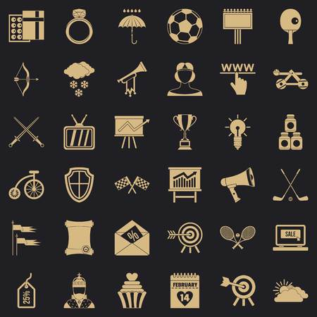Arrow and bow icons set, simple style Banque d'images - 120208859