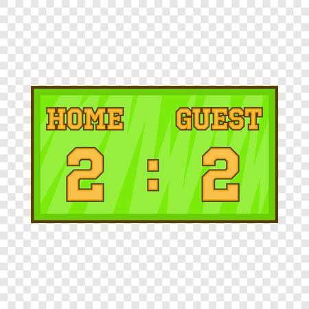 Baseball score board icon in cartoon style isolated on background for any web design Illustration