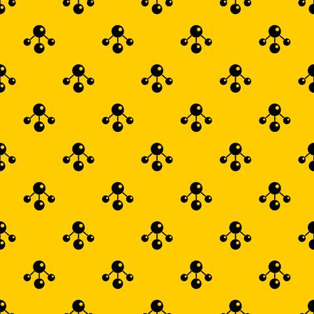 Chemical and physical atoms molecules pattern seamless vector repeat geometric yellow for any design