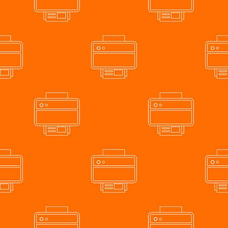 Printer pattern vector orange for any web design best