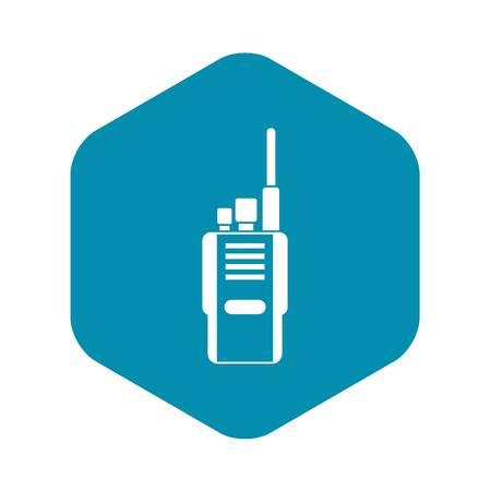 Radio icon in simple style isolated on white background. Communication symbol