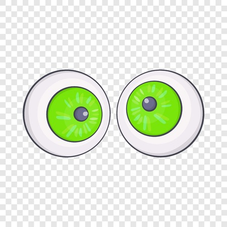 Halloween eyes icon in cartoon style isolated on background for any web design