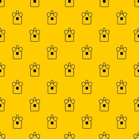 Blacksmiths apron pattern seamless vector repeat geometric yellow for any design