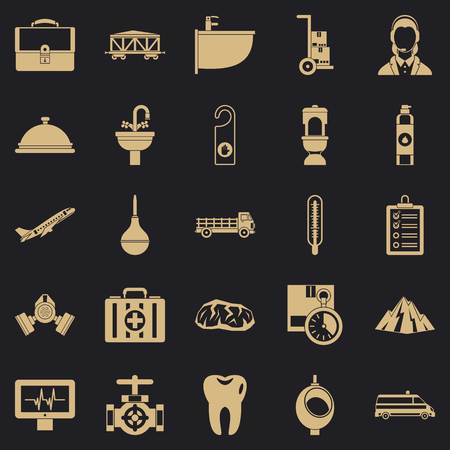 Making things icons set. Simple set of 25 making things vector icons for web for any design Illustration