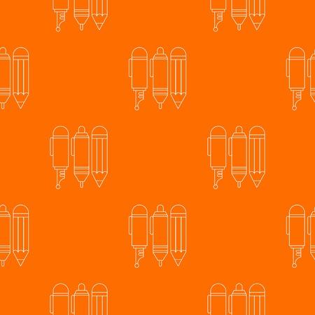 Stationery pattern vector orange for any web design best