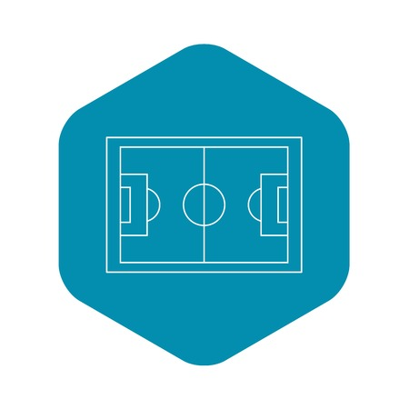 Football pitch icon. Outline illustration of football pitch vector icon for web