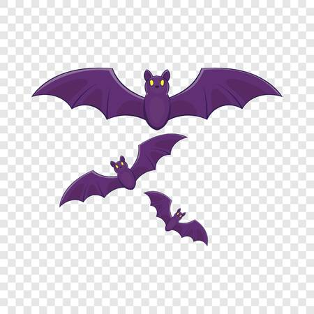 Halloween bats icon in cartoon style isolated on background for any web design
