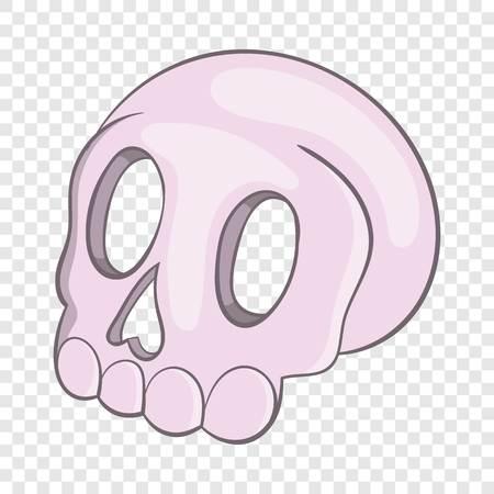 Halloween skull icon, cartoon style