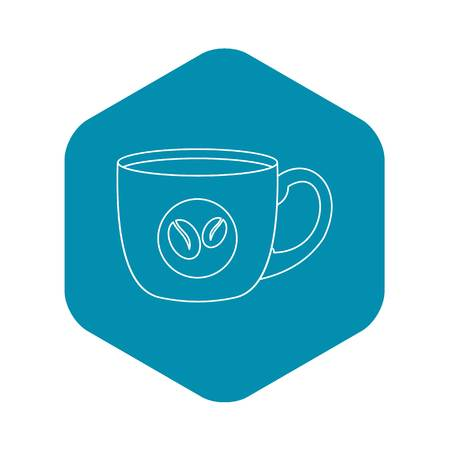 Coffee cup icon. Outline illustration of coffee cup vector icon for web
