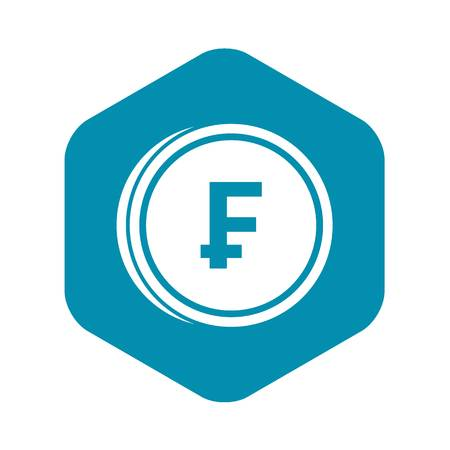 Franc coins icon, simple style