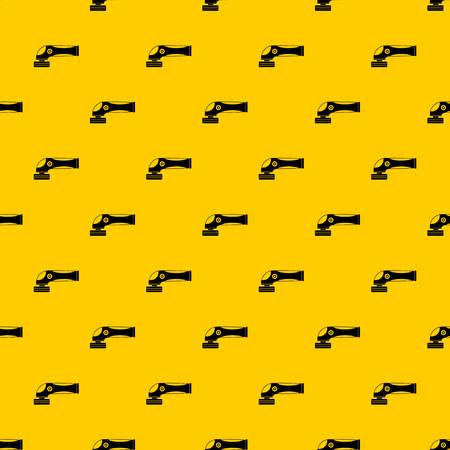 Grinder machine pattern seamless vector repeat geometric yellow for any design Stock Illustratie