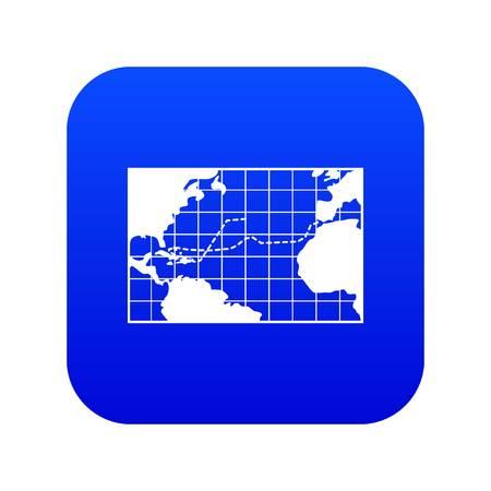Map trips of Columbus icon digital blue 일러스트
