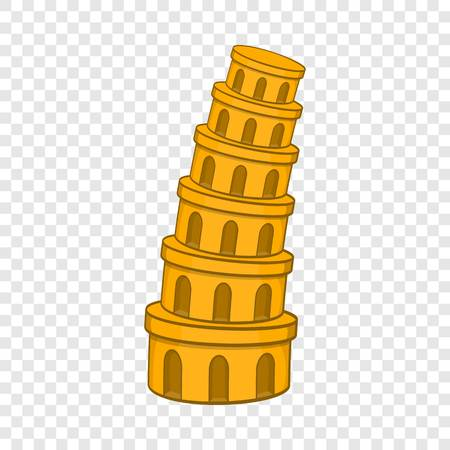 Pisa Tower icon, cartoon style