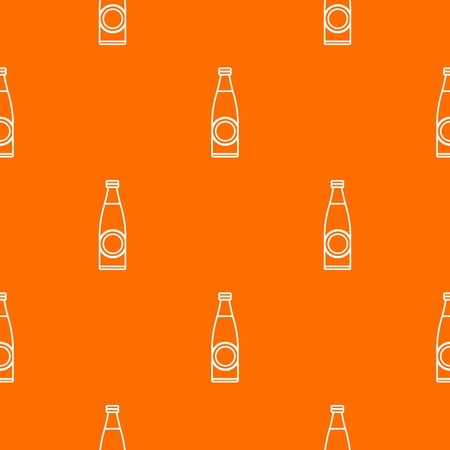 Bottle pattern vector orange 矢量图像